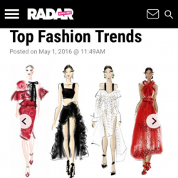 Radar Online Press Coverage: Top Fashion Trends: Chic Sketch