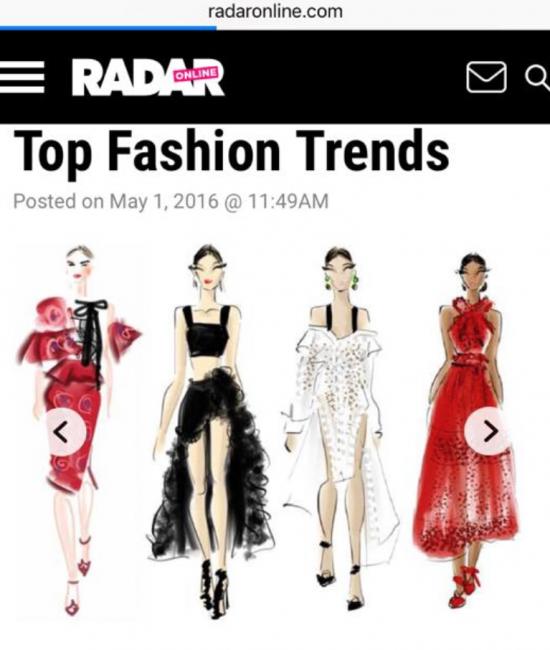 Radar Online Press Coverage: Top Fashion Trends: Chic Sketch