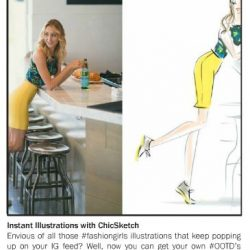 Chic Sketch featured in the Summer 2016 issue of La Palme Magazine