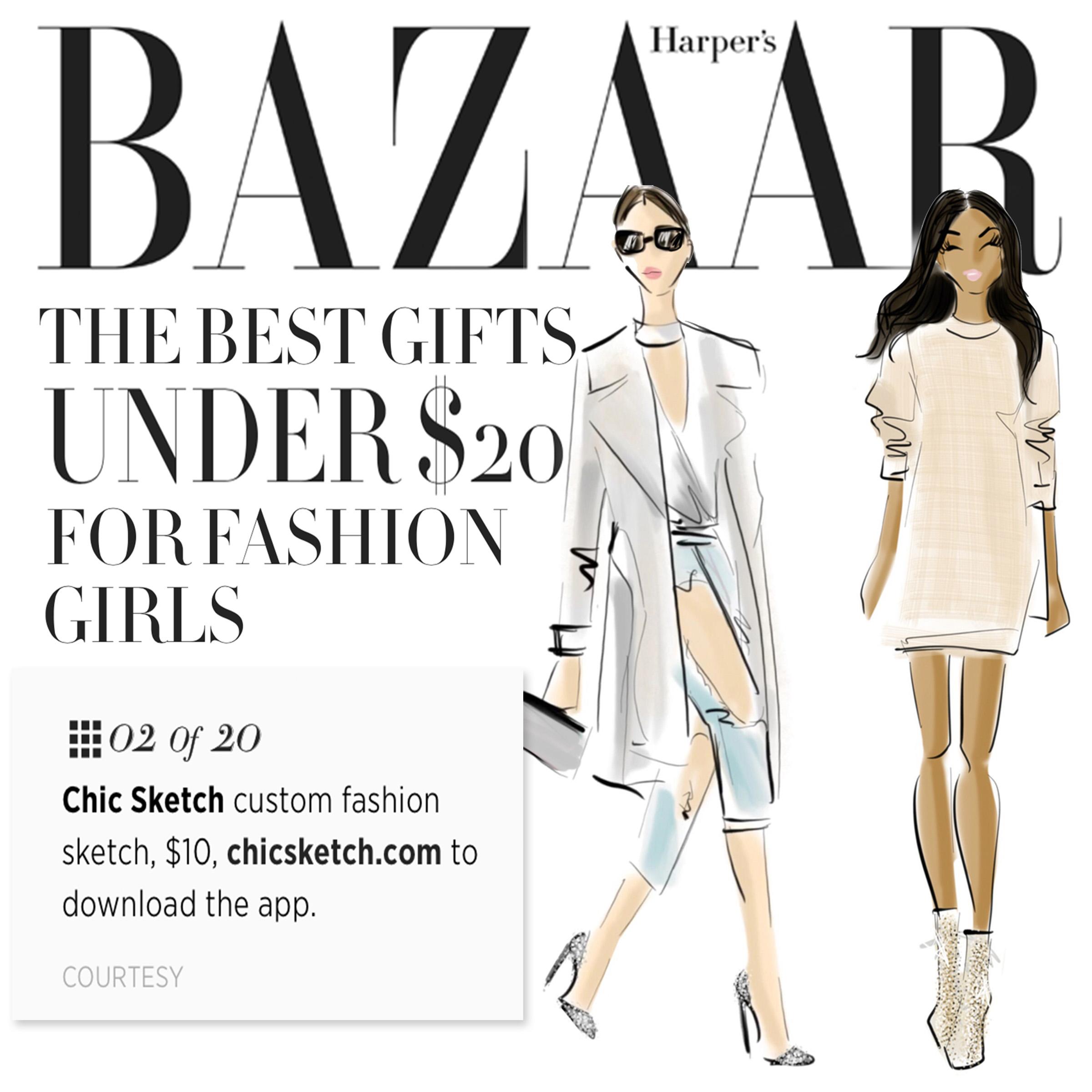 Harperbazaar The Best Gifts Under 20 For Fashion Girls Chic Sketch