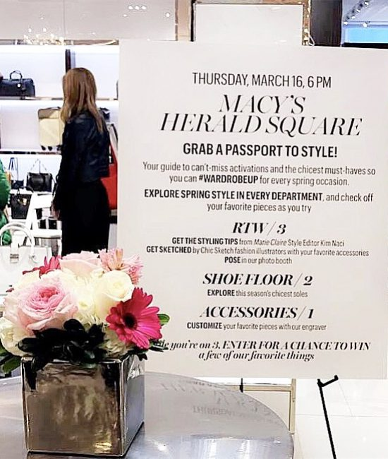 #WARDROBEUP Event with Macy's, Michael Kors & Marie Claire!