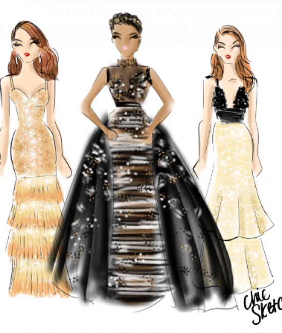 Facebook Live with Life & Style to sketch Oscars looks!