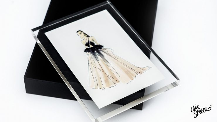 chic sketch picture frame