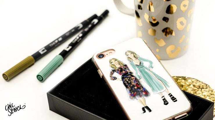 chic sketch phone case