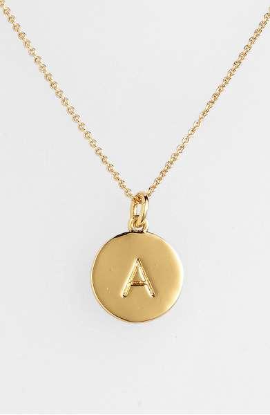 fashion gift idea, Kate Spade necklace, Kate Spade initial necklace, Kate Spade initial pendant, Kate Spade gold necklace, gift idea