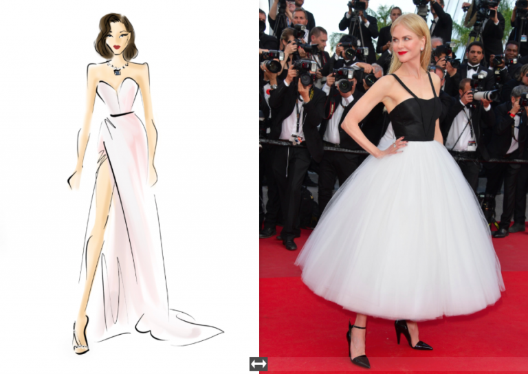 Getty Images: SKETCHING THE CANNES RED CARPET