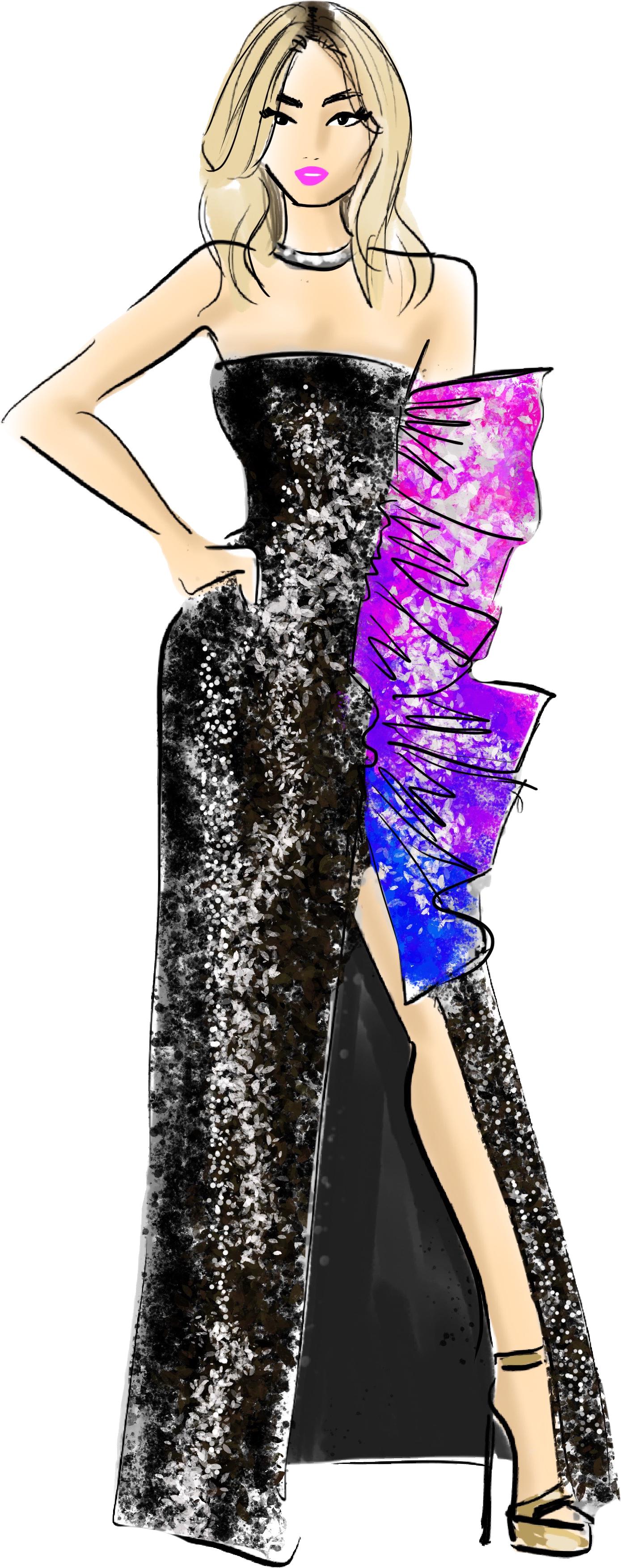 Single woman Fashion Illustrations